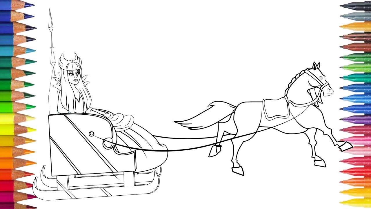 RATU SALJU Dengan Kuda Itu Menggambar Dan Mewarnai Audiobook