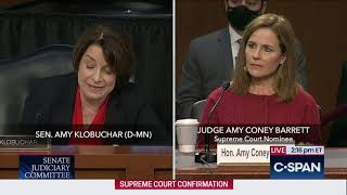 Klobuchar Tries To Trap Amy Coney Barrett on Superprecedent Cases (It Doesn't Work)