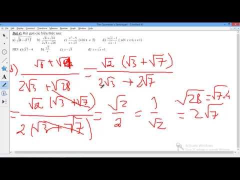 [9] Chuyên đề căn thức - Bai 4 Bài toán rút gọn biểu thức chứa dấu căn