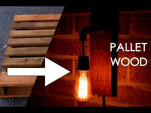 Make an industrial wall sconce with pallet wood and copper tubing - Part 2