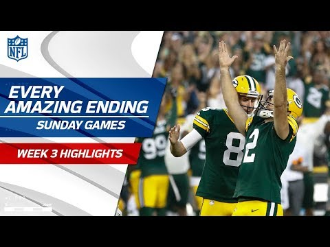 Every Amazing Ending to Sunday's Games | NFL Week 3 Highlights