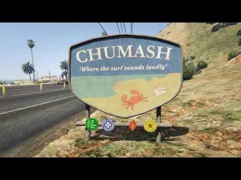 GTA V - Just Walking - Pacific Bluffs Country Club, Chumash 01