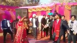 Best awesome Punjabi wedding dance by groom and bride in ambala cantt. (GMN college group)