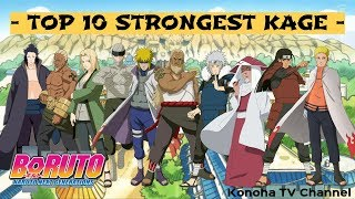 TOP 10 STRONGEST KAGE