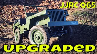 JJRC Q65 RC Willy Jeep 1/10 scale . Upgraded with full WPL kit.