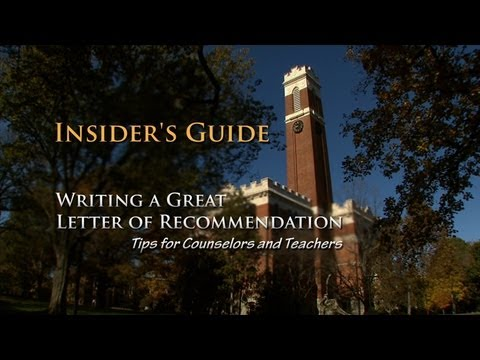 Insider's Guide to Writing a Great Letter of Recommendation - YouTube