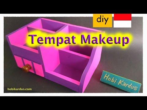 Cara Membuat Tempat Make Up Dari Kardus Rak Laci Knob Kayu Youtube
