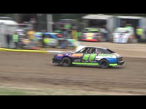 4 Cylinder Heat Race #2 at Mt. Pleasant Speedway, Michigan on 08-04-2017.