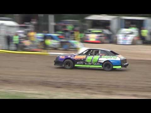 4 Cylinder Heat Race #2 at Mt. Pleasant Speedway, Michigan on 08-04-2017.