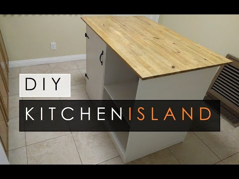 DIY Kitchen Island SIMPLE & EASY!!!
