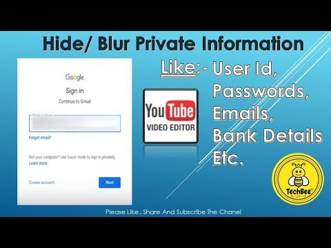 YouTube Video Editor {How To Hide / Blur Private Information On Video}🔥🔥💯👍
