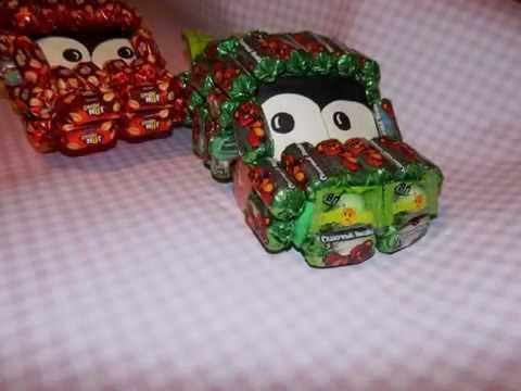 Машина из конфет своими руками / Молния Маккуин