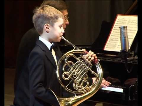 Danila Galouza, 8 years old, french horn