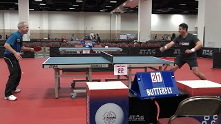 Table tennis legend Dan Seemiller takes on CBS News' Omar Villafranca