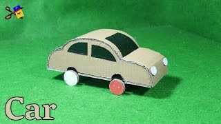 How To Make A Car From Cardboard | Best Out Of Waste | School Project From Cardboard | Basic Craft
