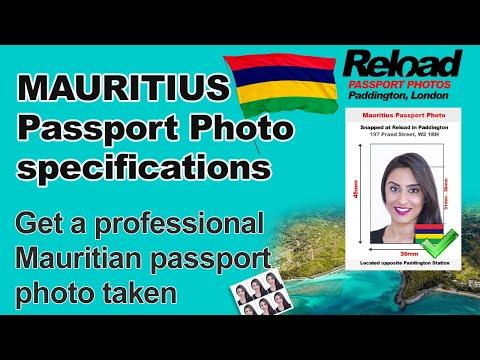 Mauritius Passport photo & Mauritius Visa Photos snapped at Reload Internet in Paddington London
