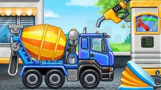 заправка на спецтехника и построим детский площадь для детей песня мультфильм про машины 2021