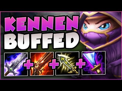 WTF... RIOT 100% OVER BUFFED KENNEN! AD ON-HIT KENNEN TOO OP! KENNEN TOP GAMEPLAY! League of Legends