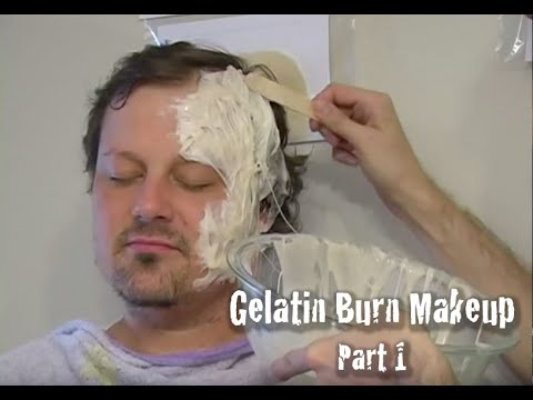 Gelatin Burn Makeup tutorial - part 1 - YouTube