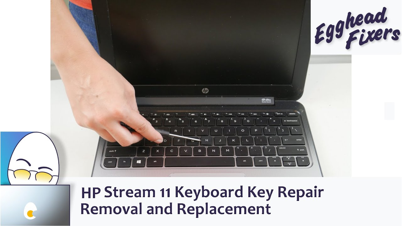 Hp Stream 11 Keyboard Key Repair  Removal and Replacement