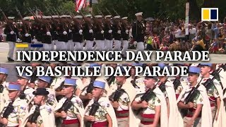 Independence Day parade vs Bastille Day parade