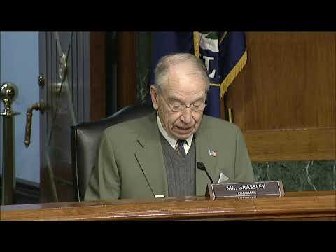 Grassley at Hearing to Consider Janet L. Yellen to be Secretary of the Treasury