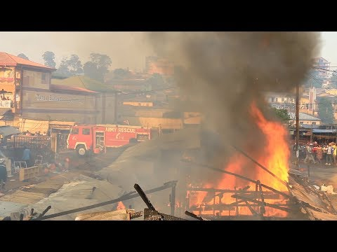 NEARBY BAMENDA MARKET FIRE INCIDENT OF NOV. 16th 2018. OPPOSITE TATSA BUSINESS CENTER BUILDING.