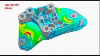 ANSYS - simulation of finned aluminium holder