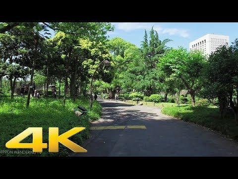 Walking around Hibiya park, Tokyo - Long Take【東京・日比谷公園】 4K