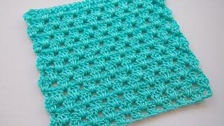 ✔Самый простой узор крючком для начинающих Урок 86  simple crochet pattern