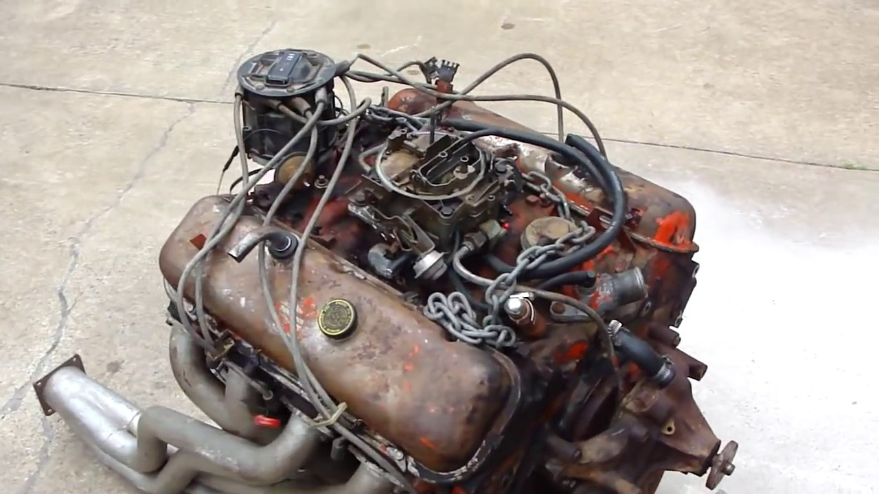 Chevy 454 Engine Start Up On Ground Hot Ratrod Engine