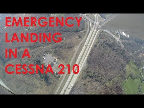 EMERGENCY LANDING IN A CESSNA 210 (KCGF to KBKW)