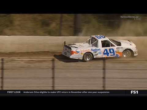 NASCAR Camping World Truck Series 2018. Qualifying Eldora Speedway. Wendell Chavous Crash