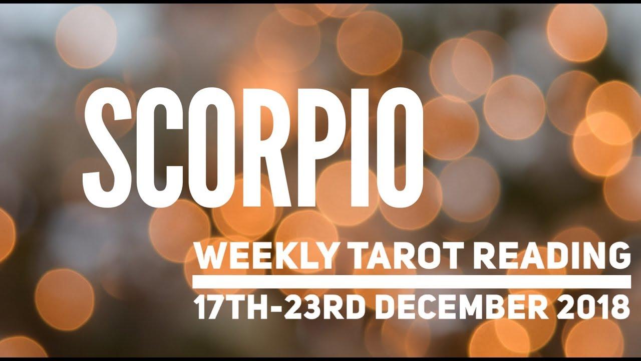 scorpio weekly horoscope from 17 december 2019