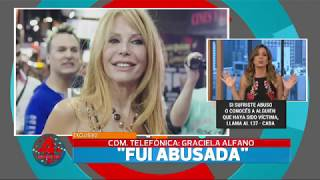 Graciela Alfano confesó haber sido abusada cuando era una niña