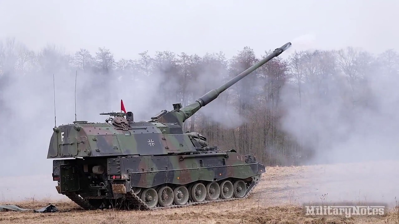 German 155mm Self-Propelled Howitzer • Demonstration