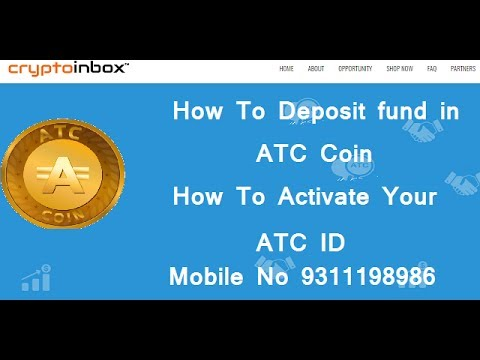 How To Deposit or Update Fund In CryptoInbox ATC COIN