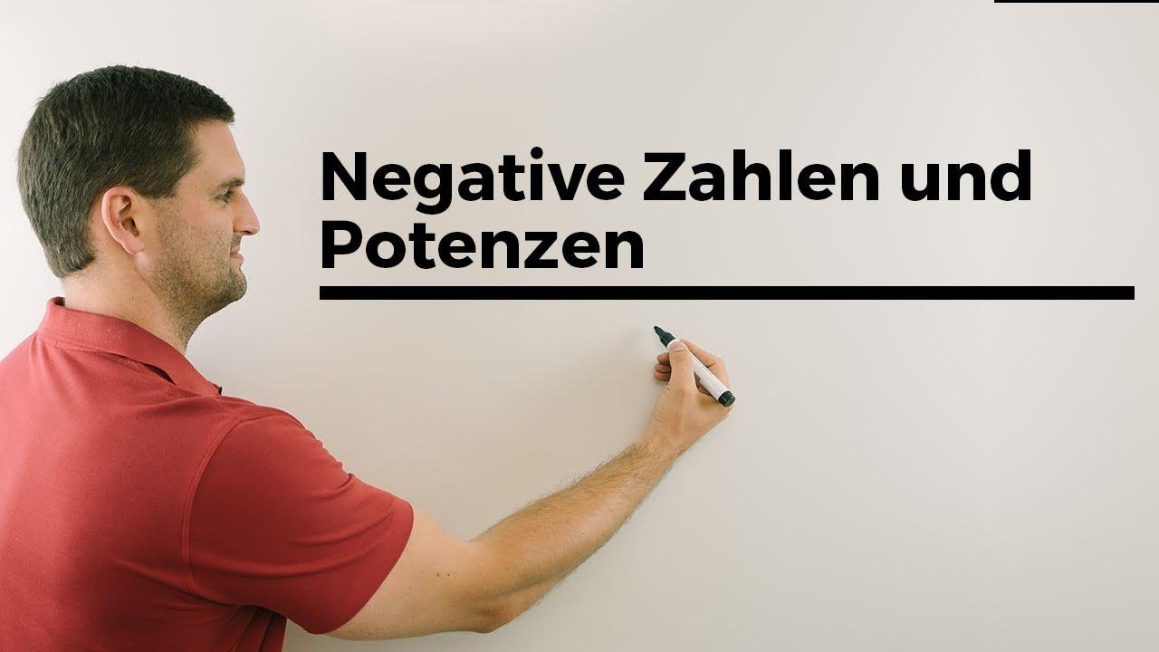 Negative Zahlen & Potenzen, Achtung bei geraden Exponenten und ...