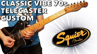 the Fender Squier Classic Vibe 70s Telecaster Custom in Black is Solid!