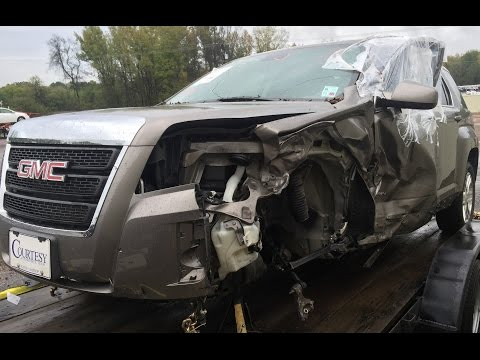 2012 GMC Terrain A pillar and cowl repair time lapse video before and after