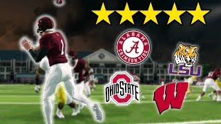 #1 QUARTERBACK IN THE NATION RECEIVES HUGE COLLEGE OFFERS! NCAA Football Road To Glory!