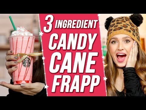 EASY DIY STARBUCKS CANDY CANE FRAPPUCCINO?! 3 items Or Less w/ Courtney Randall