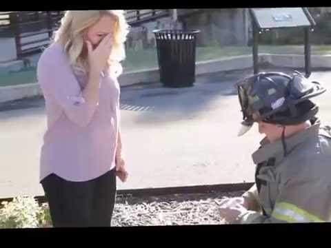 Firefighter Surprise Engagement Proposal Youtube