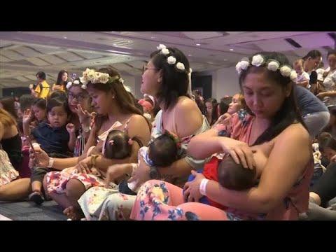 شاهد: مئات الأمهات يرضعن أطفالهن في آن واحد تشجيعا على الرضاعة الطبيعية…  - 14:54-2019 / 8 / 18