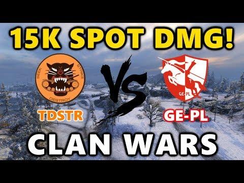 World of Tanks - TDSTR vs GE-PL - BEST PASSIVE SPOT? - Arctic Region Boost! - CLAN WARS  #28