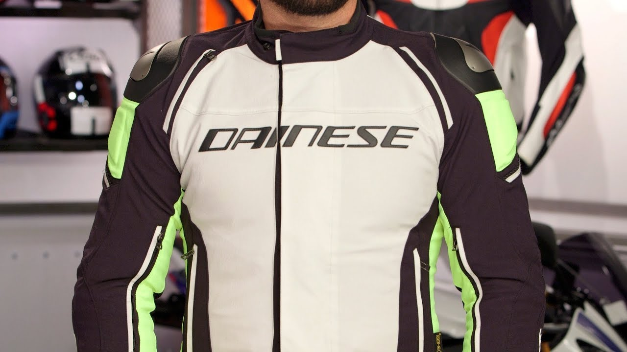 eb11077b0f Dainese Racing 3 D-Dry Jacket Review at RevZilla.com - YouTube