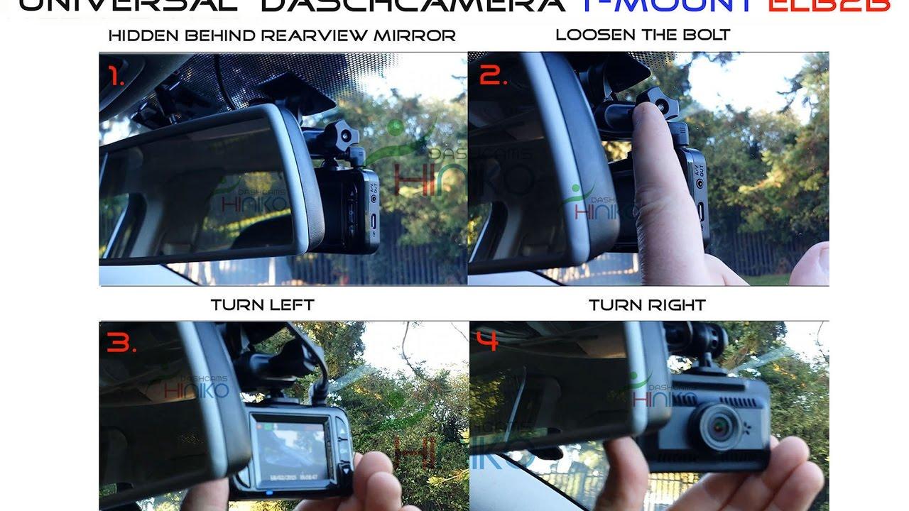 Download In-Car (ELB2B-3M) T-Mount Elbow bracket / mount 2 ball joints for daschamera, car dvr