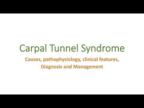 Carpal Tunnel Syndrome  causes, pathophysiology, clinical features, diagnosis and management