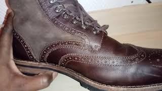 Fry Wingtip Boot Review. Wool Lined Lamb Skin Upper w/ Pebble Calf Skin Brouging. Watch N Shoes!