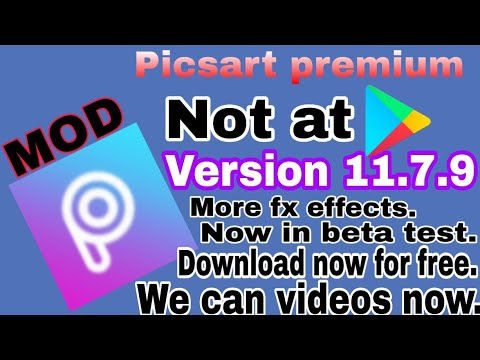Picsart unreleased beta  version | version 11.7.9 | Edit videos with picsart | more features added.